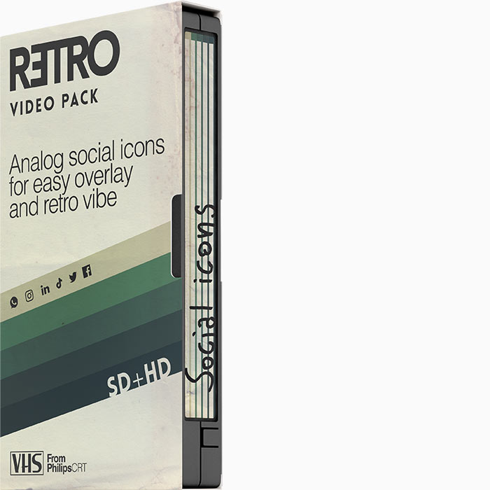 Retro Video Pack Social icons